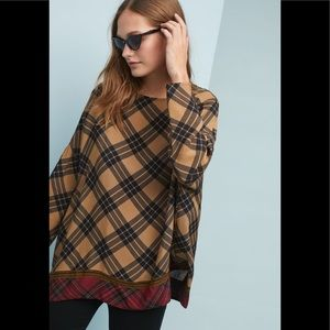 Anthropologie Ottod'ame Dual Plaid Pullover sz 2